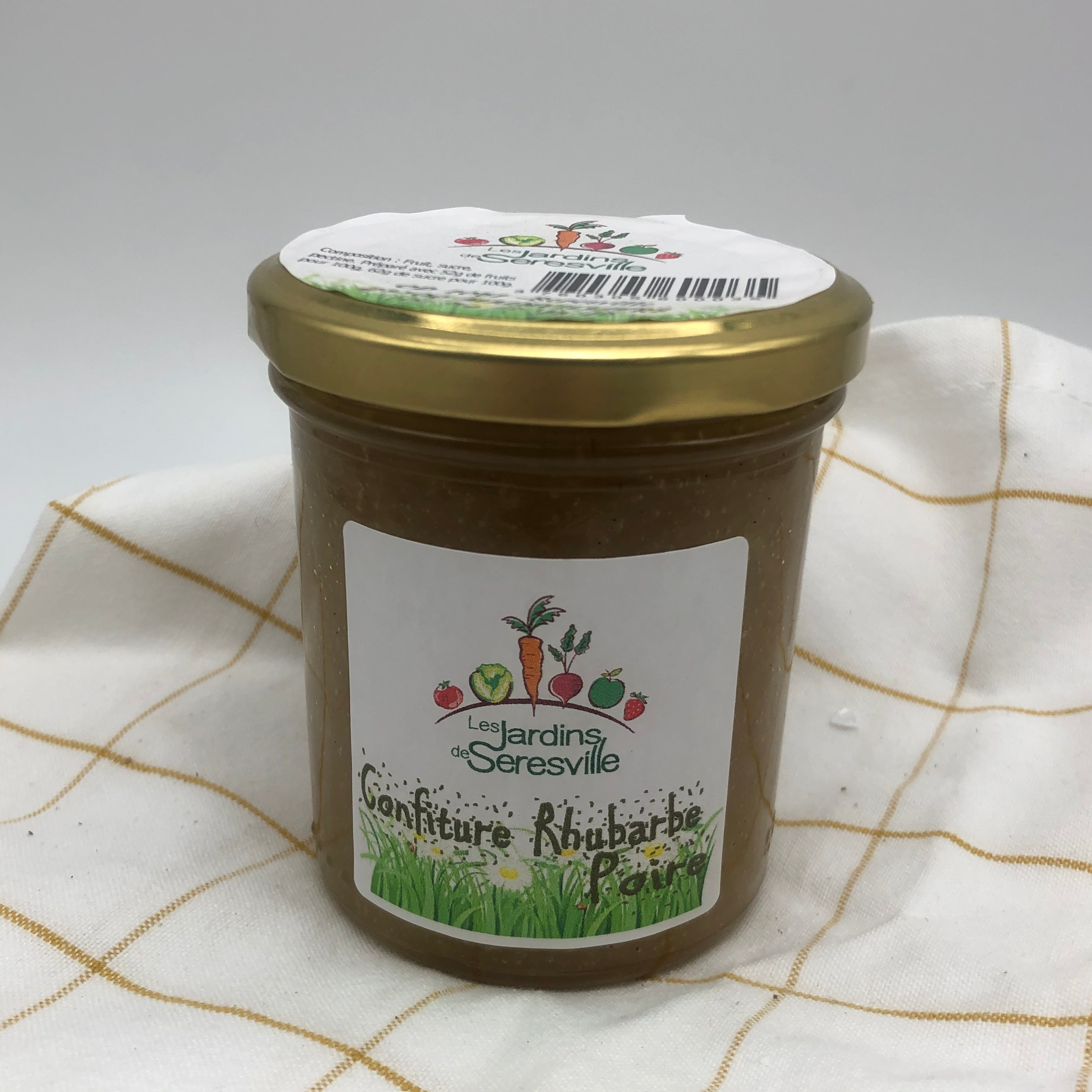 Confiture rhubarbe poire