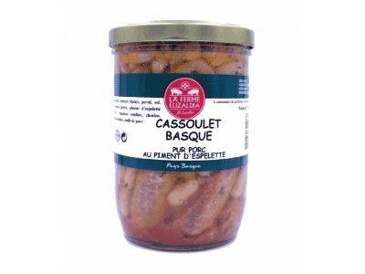 Cassoulet basque pur porc piment d'Espelette - direct producteur