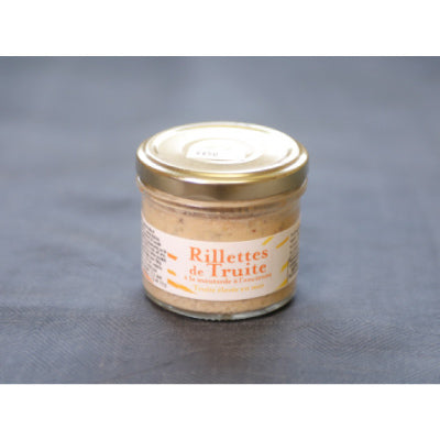 Rillettes de truite de France à la moutarde à l'ancienne - direct producteur