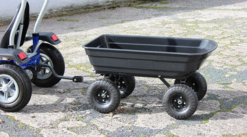Large pedal go kart tipping trailer video