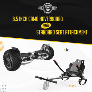 Hoverboard Camo 8.5 + Hoverkart Attachment - Bundle Deal Offer