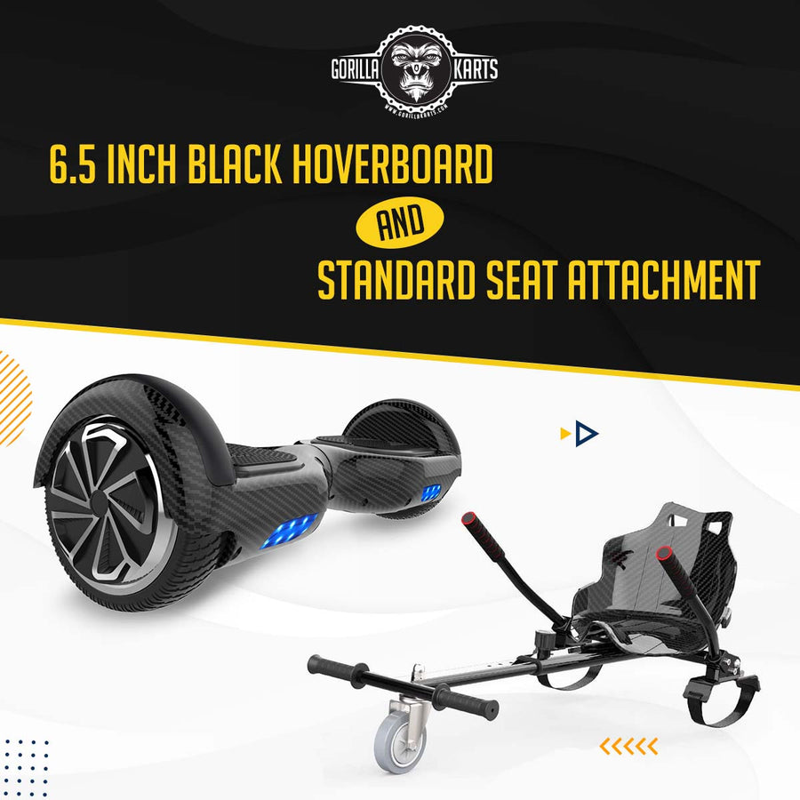 Hoverboard Carbon Black 6.5 + Kart attachment