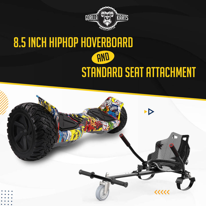 Hoverboard HipHop 8.5 + Hoverkart Attachment - Bundle Deal Offer