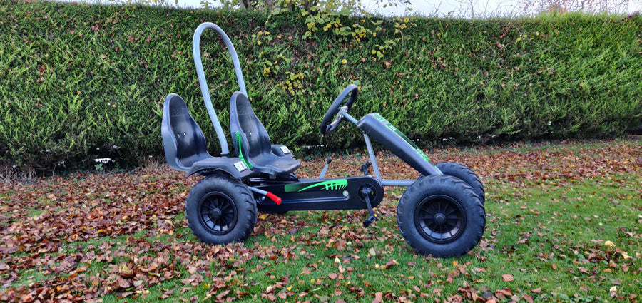 Gorilla Large Pedal Go Kart Green With Tractor Tyres  NEW 2020