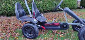 Large Two Seater Pedal Go Kart Red