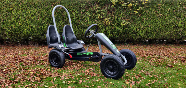 Large Two Seater Pedal Go Kart Green