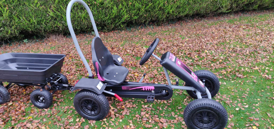 Deal Large Pink Go kart + Large tipping Trailer