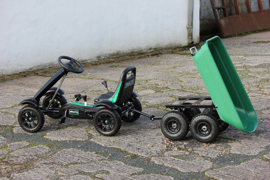 Small pedal gorilla kart + green tipping trailer Deal