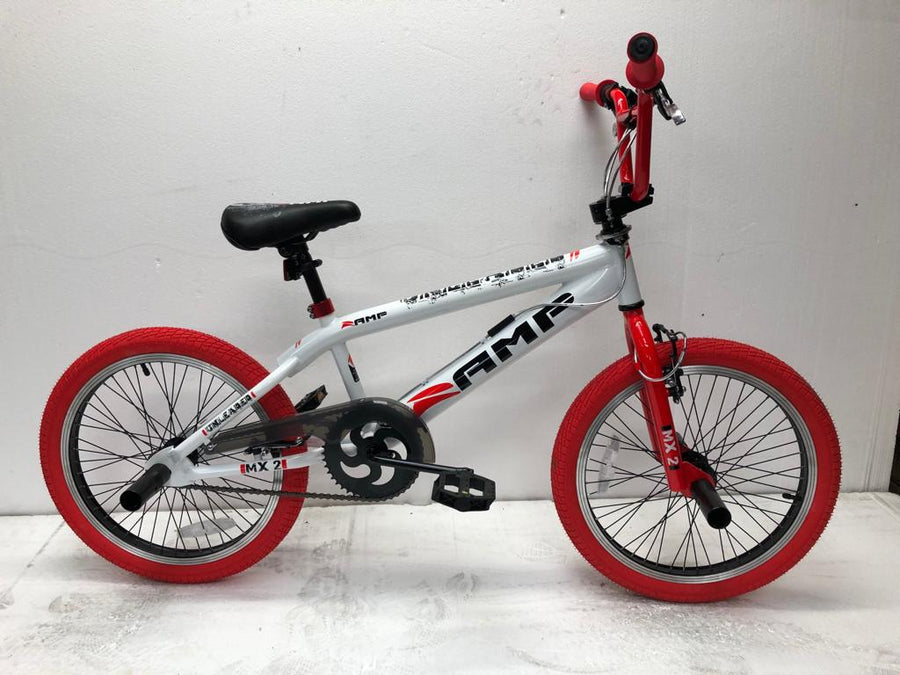 White and red BMX