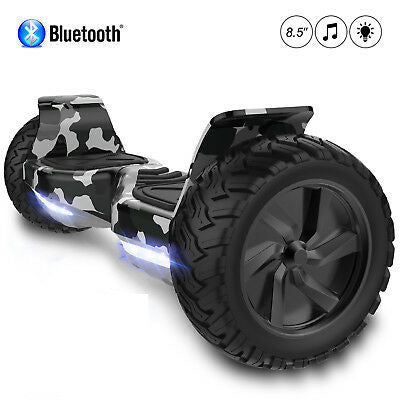8.5 All Terrain Hummer Hoverboard Board Camo + Bluetooth Speaker.