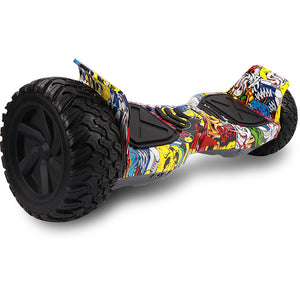 8.5 Hip Hop All Terrain Hummer Hoverboard Board + Bluetooth Speaker
