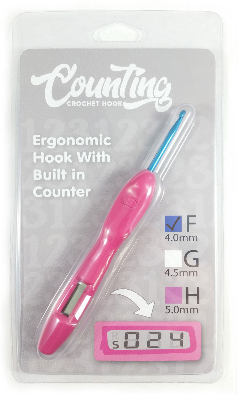 F 40mm Counting Crochet Hook