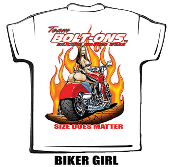 "Team Bolt-ons ""Biker Girl"" T-Shirt"
