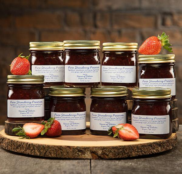 Gift of Pure Strawberry Preserves - 8 Jars