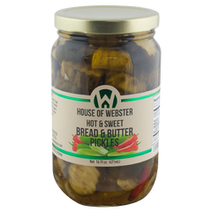 Hot & Sweet Bread & Butter Pickles - HouseofWebster