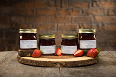 Gift of Pure Strawberry Preserves - 4 Jars