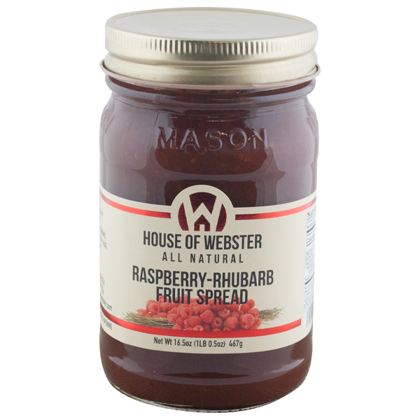 Red Raspberry Rhubarb Fruit Spread - HouseofWebster