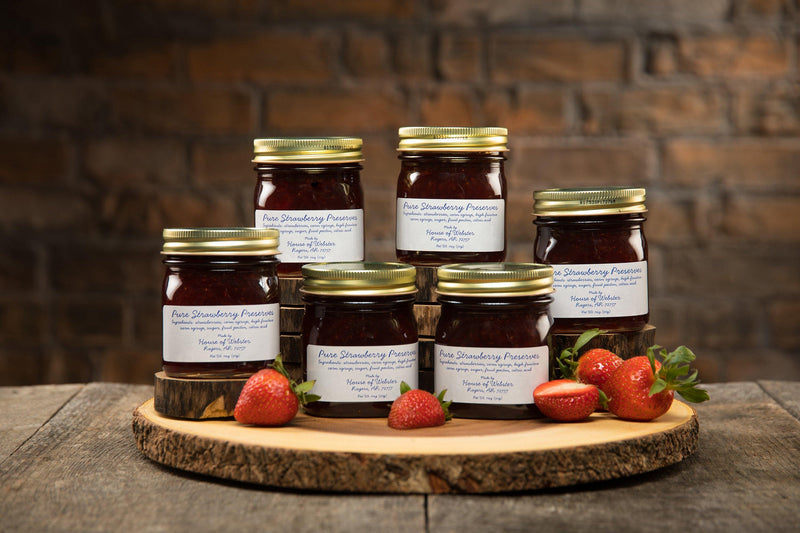 Gift of Pure Strawberry Preserves - 6 Jars