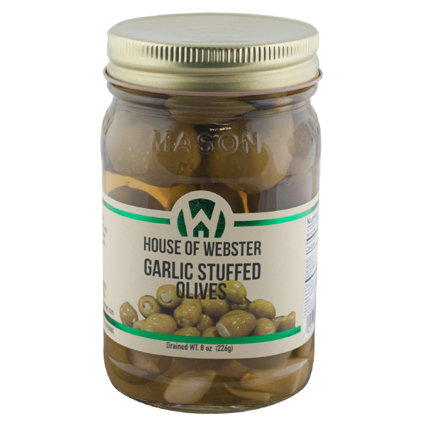 Garlic Stuffed Olives - HouseofWebster