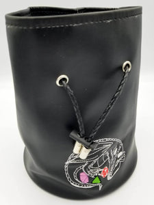 Patent Leather Dice Bag with Pockets