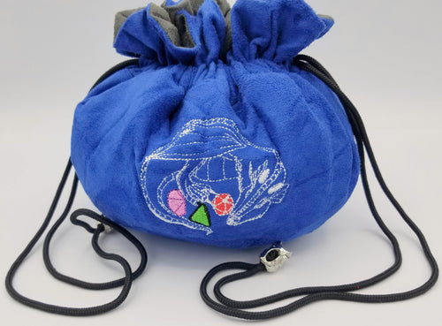 Blue Velvet Dice Bag