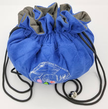 Load image into Gallery viewer, Blue Velvet Dice Bag