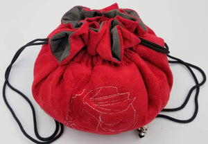 Red Velvet Dice Bag