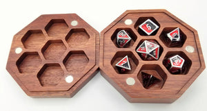 Talys Hexagonal Purple Heart Dice Box