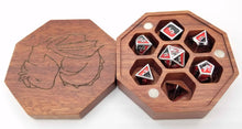 Load image into Gallery viewer, Talys Hexagonal Purple Heart Dice Box