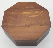 Load image into Gallery viewer, Talys Hexagonal Black Walnut Dice Box