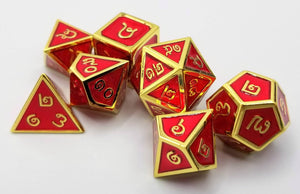 Thai Metal Red Gold Dice (Talis Evolvere)