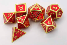 Load image into Gallery viewer, Thai Metal Red Gold Dice (Talis Evolvere)