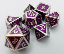 Load image into Gallery viewer, Thai Metal Purple Silver Dice (Talis Evolvere)
