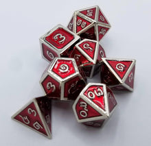 Load image into Gallery viewer, Thai Metal Red Silver Dice (Talis Evolvere)