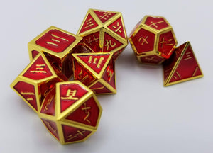 Kanji Metal Red Gold Dice (Talis Evolvere)