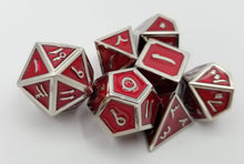 Load image into Gallery viewer, Arabic Metal Red Silver Dice (Talis Evolvere)