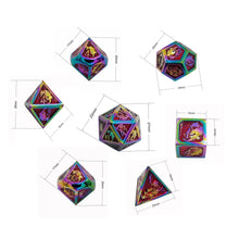 Load image into Gallery viewer, Alex Metal Dice Set (Talys Dragon)