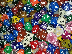 HDDice D10 Random Dice (Set of 25)