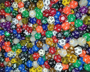 (50) HDDice D12 Random Pearl Solid Translucent Color Polyhedral Dice Lot 12 Side