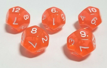 Load image into Gallery viewer, Orange Transparent Dice