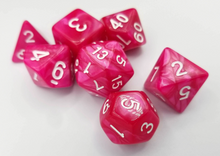 Load image into Gallery viewer, Rose Red Pearl Dice Set