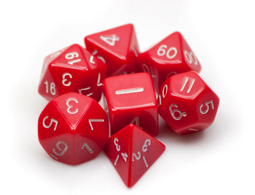 Opaque Red Dice Set