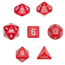 Load image into Gallery viewer, Opaque Red Dice Set