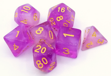 Load image into Gallery viewer, Purple Milky Dice Set