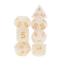 Load image into Gallery viewer, White Pearl Dice Set