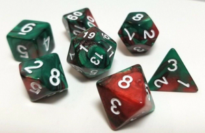 Green Brown Coffee Marble Dice Set