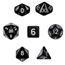 Load image into Gallery viewer, Opaque Black Dice Set