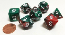 Load image into Gallery viewer, Green Brown Coffee Marble Dice Set