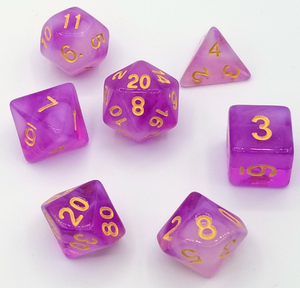 Purple Milky Dice Set
