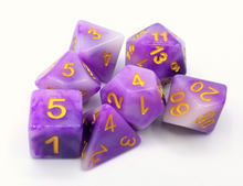 Load image into Gallery viewer, Purple Jade Dice Set